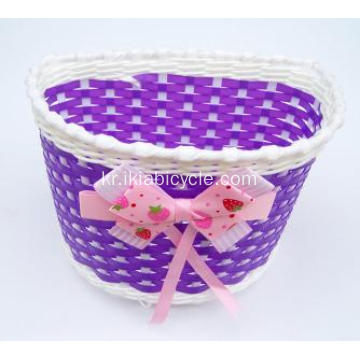 Weaving Basket Plastic Basket for Bike